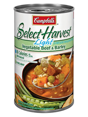 Campbell?s Select Harvest Light, Vegetable Beef & Barley