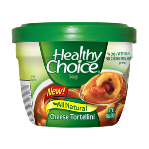 Healthy Choice Soup, Cheese Tortellini