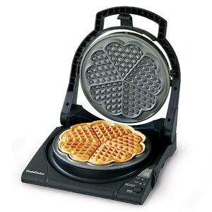 Heart waffle iron