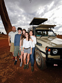 Danielle Butin with family in Africa