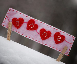 four hearts bookmark