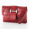 Red crocodile clutch