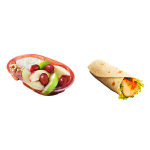 McDonald?s Honey Mustard Grilled Snack Wrap and Snack-Size Fruit and Walnut Salad