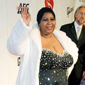 Aretha Franklin on red carpet
