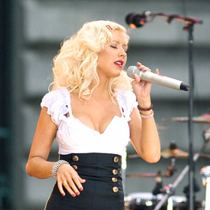Christina Aguilera in concert