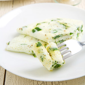 Egg white omelet