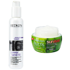Redken Power Tame 16 Intense Straightening Balm, Garnier Fructis Style Survivor Rough It Putty