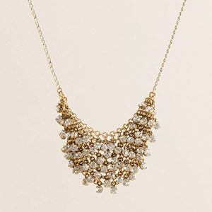 JCrew Mini Crystal Supernova Necklace