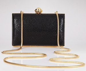 Bloomingdale's Hard Body Mesh Clutch