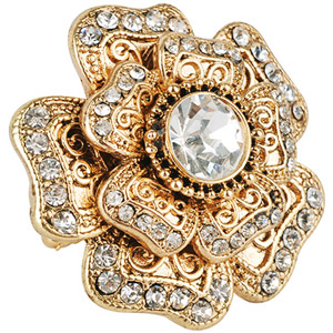 Forever 21 Rhinestone Flower Ring