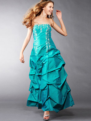 JCPenney Taffeta Pickup Gown
