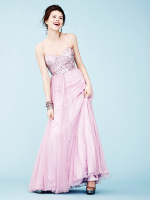 Macy's Sequined Bodice Gown