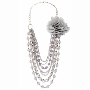 Payless Multi Layer Flower Necklace
