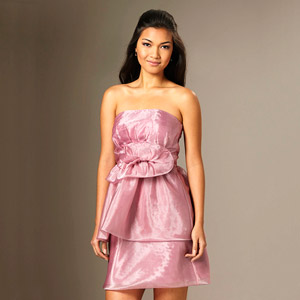 The Limited Flowery Strapless Dress
