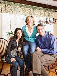Cindy Kerr of ConKerr Cancer and family