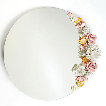 picture of a mirror with a flower border