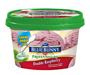 Blue Bunny Personals Double Raspberry Frozen Yogurt