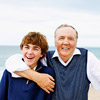 James Patterson and son