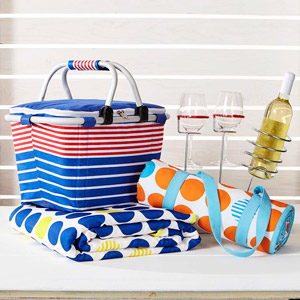 Fabric picnic basket