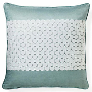 Blue lace pillow