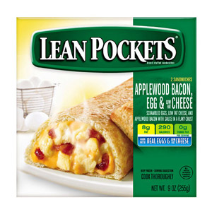 Lean Pockets Applewood Bacon Egg & Low-Fat Cheese