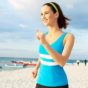 Woman exercising in morning