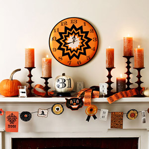 Halloween Interior Decorating twenty halloween mantel {and more} decorating ideas! - fox hollow