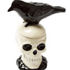Skull and Crow Salt and Pepper Shaker set