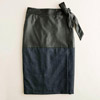 Mixed-Media Pencil Skirt