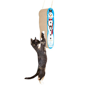 Imperial Cat Hanging Snowman Cat Scratcher