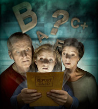 Report card illustration