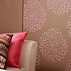 Flower wallpaper stencil