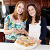 Leanne Youstra and Margaret Quinn with cupcakes