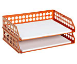Circuit Letter Tray in Orange