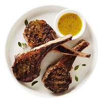 Lamb chops and Ladolemono