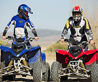 Teens on ATVs