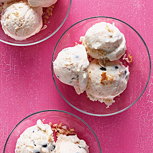 Coconut chip ice cream
