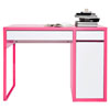 MICKE Desk in White and Pink