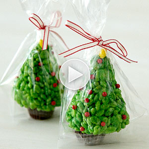 How to Make Rice Krispies Trees