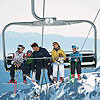 Skiing in Lake Tahoe, California