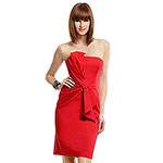David Meister Lady in Red Prom Dress