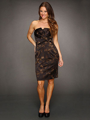 Jessica Simpson Strapless Tuck Dress