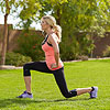 woman lunging during workout