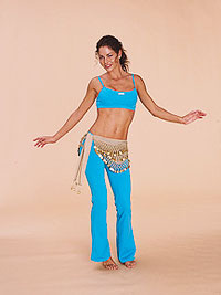 Belly dancer - horizontal figure 8