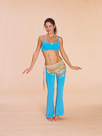 Belly dancer - vertical figure 8