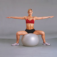 Inner-Thigh energizer with exercise ball (a)