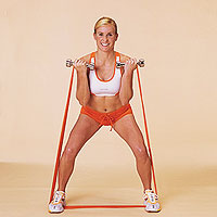Squat with Biceps Curl