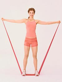 resistance band side raises