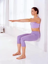 Pilates wall slides