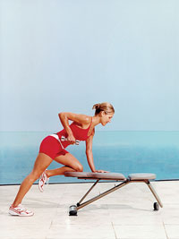 One-Arm Dumbbell Row, Option A
